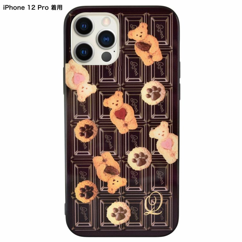 テディーベアー×チョコレート ハードガラスケース-iPhone12・12Pro